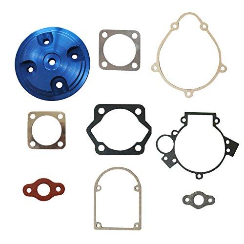 JRL Blue CNC Cylinder Head&Gasket Set Fit 80cc Motorized Bicycle Bike Motor Engine ()