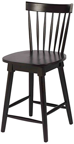 Foremost Elise Counter Height Swivel Stool, Black