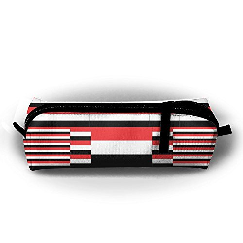 Yemen Flag Pencil Bag Holder Pen Case Coin Purse Pouch Stationery Pouch Bag With Zipper For Girls Kids