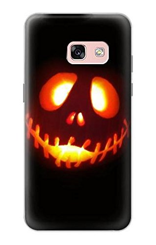 R2335 Halloween Jack Pumpkin Carving Case Cover For Samsung Galaxy A3 (2017) ()
