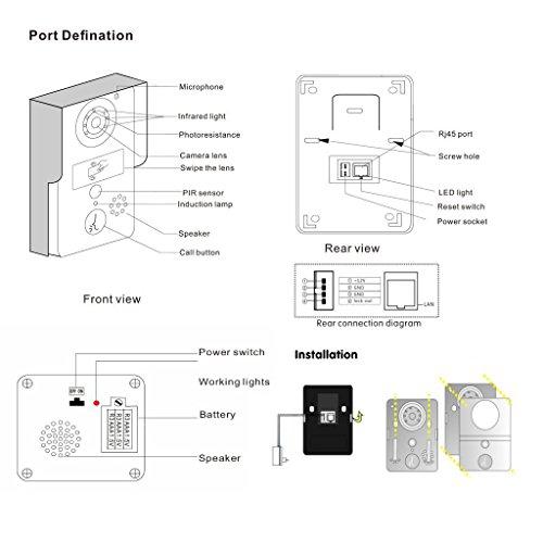 Wireless Wifi Visual Two-Way Intercom Doorbell IP Video Door Phone Outdoor Bell Camera Remote Control Unlocking support Smartphone IOS Andriod APP: ...