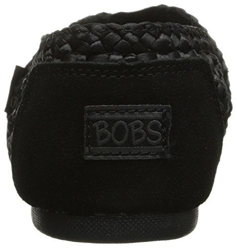 Bobs De Luxe Skechers Bobs coupã © es fraã ® Flat flechas Negro - Black Woven