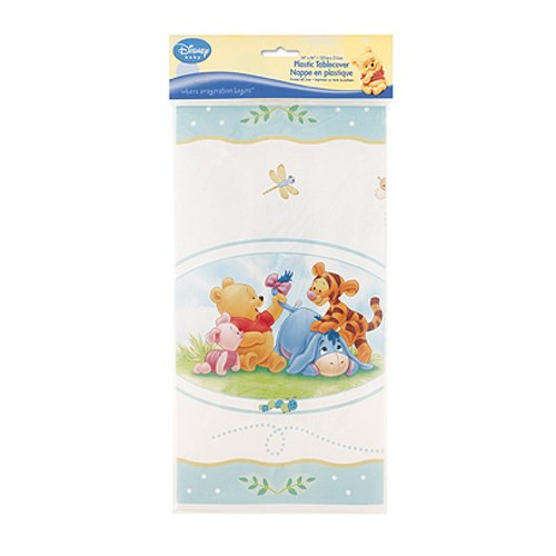 - Winnie the Pooh Baby Shower Plastic Tablecover