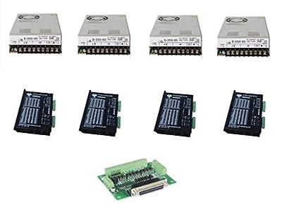 DC HOUSE 4Pcs Stepper Motor Driver Controller DM860A 7.8A 256 Micsteps DB25 Board Power Supply