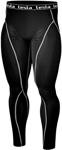 TM-P06-BS_L Men's Tesla Compression Under Leggings Base Layer Gear Armour Wear Pants