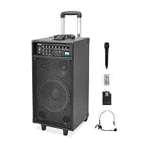 Amazon.com: Pyle Pro 800 Watt Outdoor Portable Wireless PA