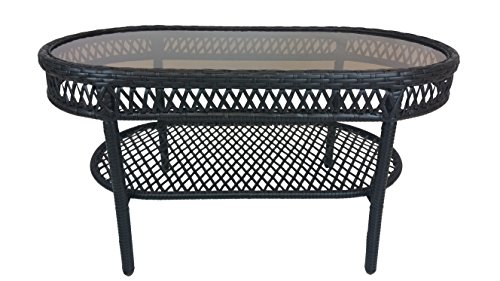 Oakland Living Elite Resin Wicker Coffee Table, 37.5 by 20-Inch