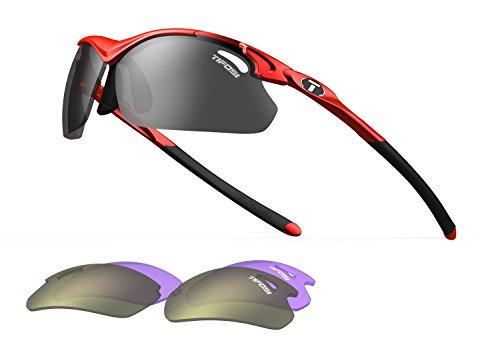 Tyrant 2.0, Metallic Red Golf Sunglasses with 3 interchangable lenses (Metallic Sport Sunglasses)