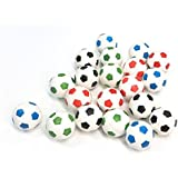 20 Soccer Super Bouncy Balls 27mm