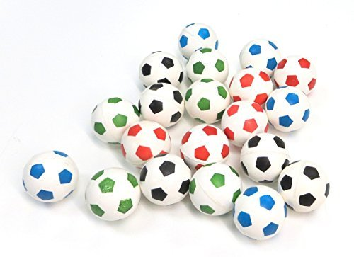 20 Soccer Super Bouncy Balls 27mm Football Bouncy Balls