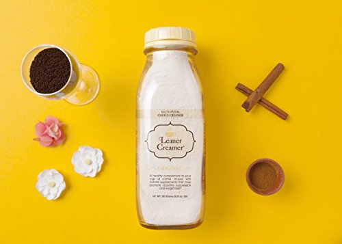 Leaner Creamer: The Lactose-Free All Natural Coffee Creamer Powder- A Healthy Complement for Coffee and Tea- May Promote Weight Loss and Suppresses Appetite- 280Gr