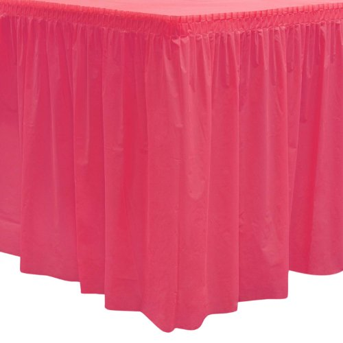 Party Essentials Heavy Duty Plastic Table Skirt Available in