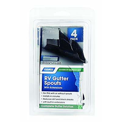 Camco 42323 Gutter Spout with Extension - Pack of 4, Black: Automotive