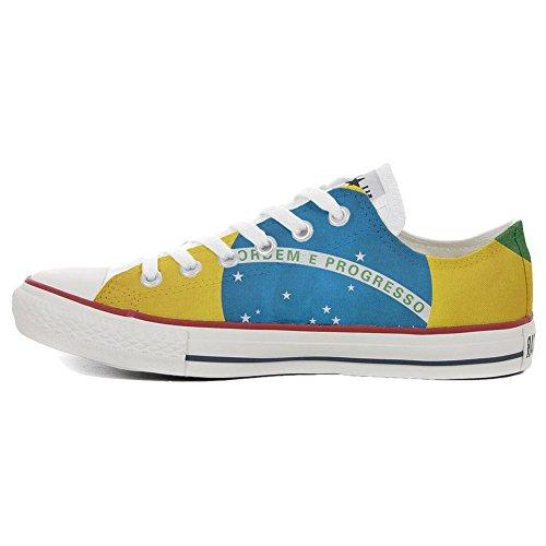 Bandiera zapatos Slim Customized Star Brasile personalizados All Producto Artesano Converse wn18HgUqx