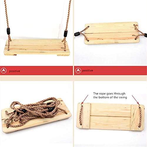 LHSUNTA Korrosionsschutz-Kiefernschaukel für Kinder, hängender Schaukelstuhl im Freien, hölzerner Innenschaukelsitz, Schaukel für Erwachsene