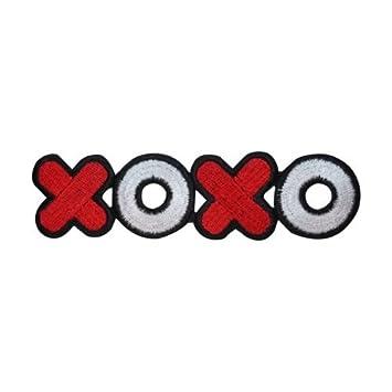 ID 3216 XOXO símbolo parche corazón San Valentín Love bordado hierro en Applique para accesorios –