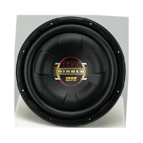 boss - d12f - boss d12f 12 1000w shallow mount diablo series car audio subwoofer sub by BOSS Audio