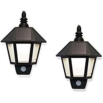 Amazon lamplust solar outdoor fence lights led security wall lamplust solar outdoor fence lights led security wall lights with motion sensor black exterior aloadofball Choice Image