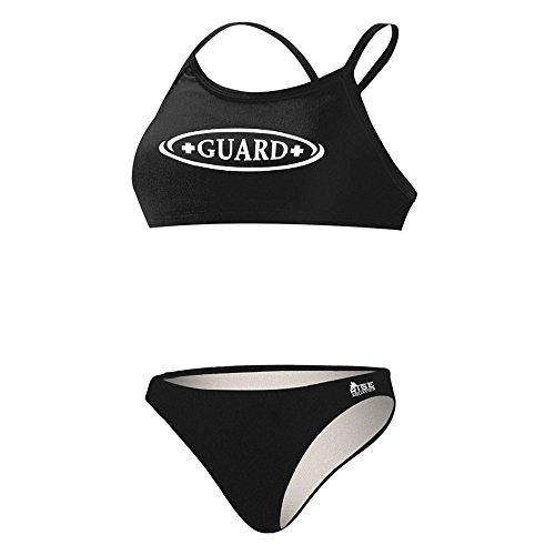 Rise Aquatics Rise Guard Poly Workout Bikini (Medium, Black) by Rise Aquatics