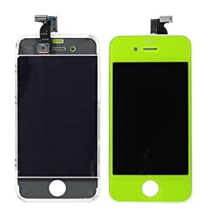 Sef Shop # 4631123en 1(New High Quality LCD, Touch Pad, LCD FRAME) Digitizer Assembly for iPhone 4(Green)