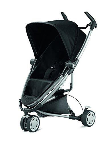 Quinny Zapp Xtra 2 Buggy mit viel Zubehör - sehr klein zusammenfaltbar, leicht und komfortabel, schwarz