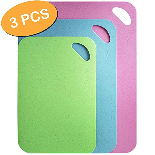Set Chopping Mats Flexible (Maruko Ultimate Plastic Flexible Chopping Mats Set, Durable and BPA-Free Colorful Cutting Boards 3-Pack   Bendable, Lightweight and Dishwasher-Safe Kitchen Cut Board Kit for Fish, Meat)
