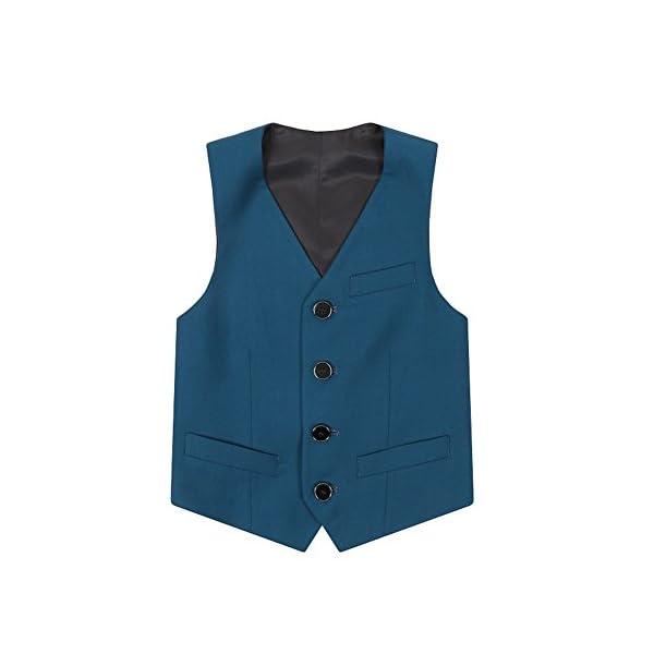Gino Giovanni Boys Summer Linen Blend Suit Vest Dresswear Set