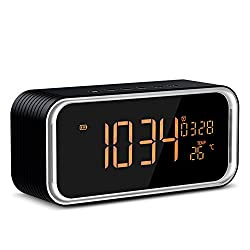 Bluetooth Speaker,POWERIVER Portable Wireless Bluetooth Speakers 4.2, Dual-Driver Portable Wireless Speaker and Alarm Clock with Low Harmonic Distortion and Superior Sound (black)