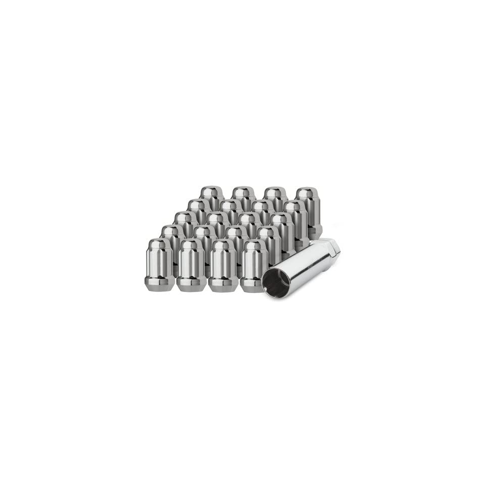 DPAccessories LCS3A2HC2CH04020 20 Chrome 1/2 20 Closed End Spline Tuner Lug Nuts for Aftermarket Wheels Wheel Lug Nut