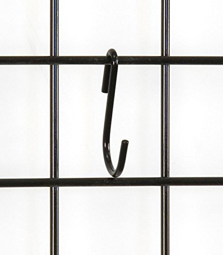 KC Store Fixtures A04723 S-Hook, Grid, Black (Pack of 500)
