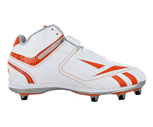 Reebok Mens NFL Full Blitz Kfs II H Football Cleat White/Orange U9jSsEn