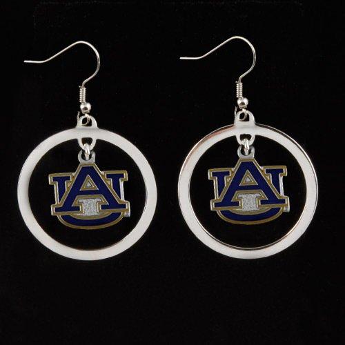 - NCAA Auburn Tigers Floating Logo Hoop Earrings
