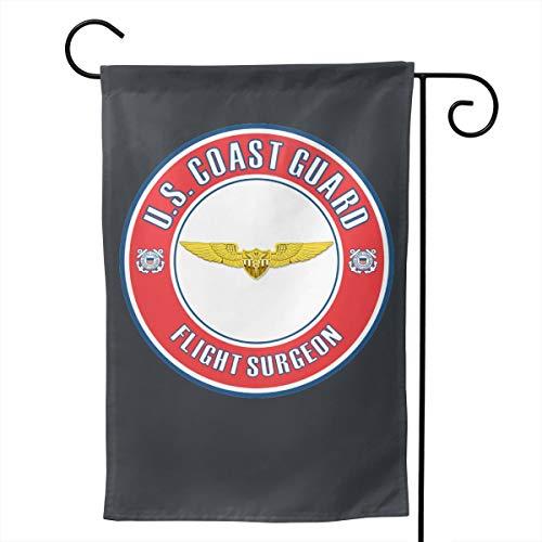 - M7UUR US Coast Guard Flight Surgeon Badge Double-Sided Decorative Garden Flag Home House Flag -12.5x18inch | 28x40inch
