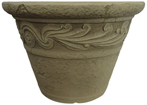 GCD-Austram Charleston Planter, 12 by 8.4-Inch, Sunwash White