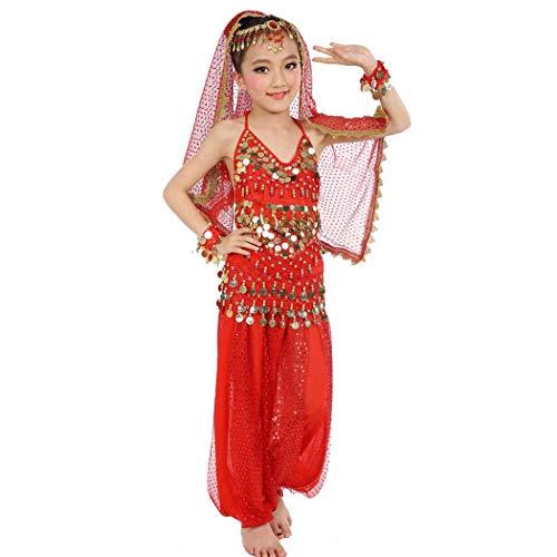 (Maylong Girls Lantern Pants Belly Dance Outfit School Halloween Costume DW10 (Medium,)