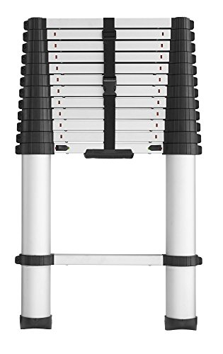 COSCO 20313T1ASE SmartClose Telescoping Aluminum Ladder with Pinch-Free, Soft-Close Locking Mechanism (300-Pound Capacity, 12.5 ft. ladder with 16 ft. Max Reach) (Ft Step Ladder 16)