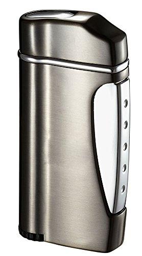 (Visol Nolet Gunmetal Wind-Resistant Torch Flame Lighter)