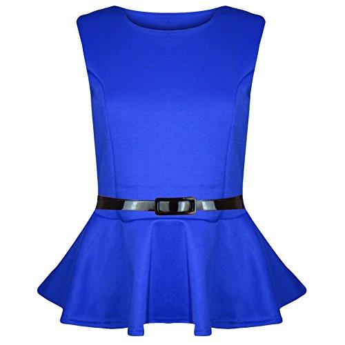 de basque extra large sans T skater Pleated soire Bleu jealous mini Belt ceinture Detachable jupe Shirt Tee robe avec femme volants Be Roi Ox8Avq6g