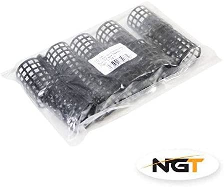 10x Karpfen Grob Match Barben Angeln Tackle rund Metall K/äfig Anleger 20g NGT