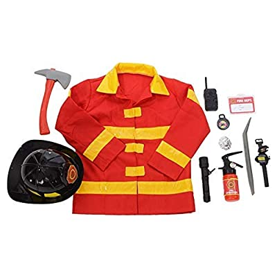 Kangaroos Role Play Firefighter Costume & Fireman Toys Kit (11 Pc): Toys & Games