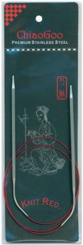 dautres Multicolore ChiaoGoo Rouge Aiguilles /à Tricoter circulaires 32-inch-Size 1//2.25/mm