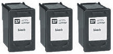 Remanufactured Ink Cartridge Replacement for HP 27 (3 Black 3 Pack)