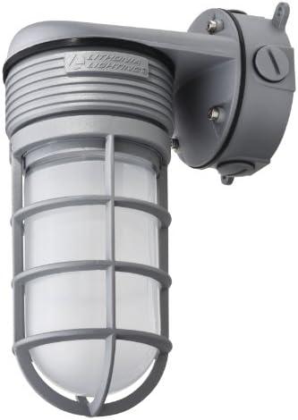 Lithonia Lighting OLVTWM M6 Wall Mount LED Vapor Tight, 600 lumens, 4000K, 15 Watts, 120 volts, Gray