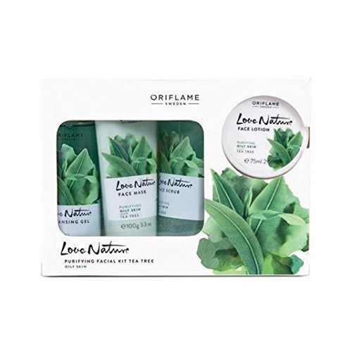 Oriflame Sweden Ayurvedic Tea Tree Nature Facial Kit (Green) product image