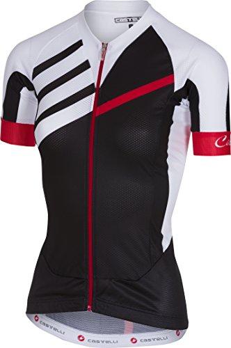 Castelli Aero Race Full-Zip Jersey - Women's Black/White, L