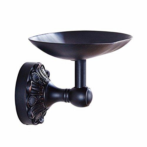 XY&XH Black ancient copper European style retro toilet soap dish soap rack bathroom accessories, size: soap dish length 130 wide 93 (mm)