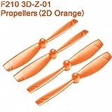 Orange Original 4Pcs Walkera F210 RC Quadcopter Parts Propellers(2D) F210 3D-Z-01