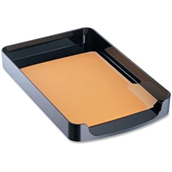 Officemate 2200 Series Executive Letter Tray, Front Load, Black (22232)