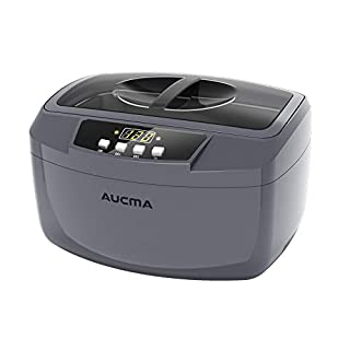 Ultrasonic Cleaner, Professional 160 Watts 2.5L Heated Ultrasonic Jewelry Cleaners Industrial Grade with Digital Timer for Home & Commercial (Grey)