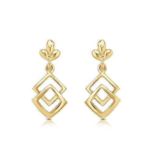 WHP Jewellers 22KT Yellow Gold Stud Earrings for Women